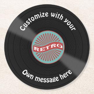 Aangepast VinylVerslag Ronde Onderzetter