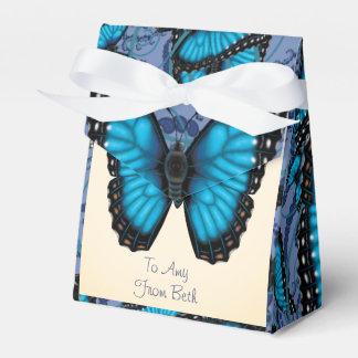 Aangepaste Blauwe Morpho Vlinder Beaucoup Bedankdoosjes
