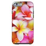 Aangepaste de Bloem van Frangipani Hawaï van Tough iPhone 6 Hoesje