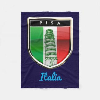 Aangepaste Leunende Toren van Pisa en Italiaanse Fleece Deken