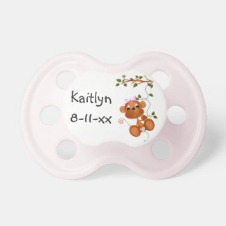 Aangepaste Roze Aap op de Fopspeen van het Baby va