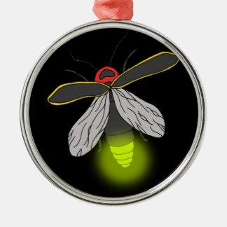 aangestoken de vlucht van het blikseminsect zilverkleurig rond ornament