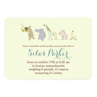 Aankondiging/Uitnodiging van de Geboorte van de 12,7x17,8 Uitnodiging Kaart