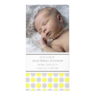 Aankondiging van de Geboorte van het Baby van de S Foto Kaart