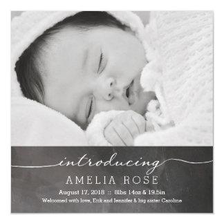 Aankondiging van het Baby van de Foto van het bord