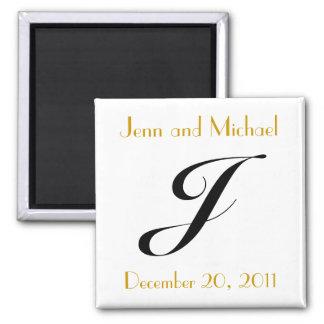 Aankondiging van het Huwelijk van het monogram J d Magneet