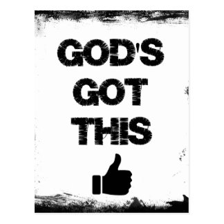 Aanmoediging: God Gekregen dit Briefkaart