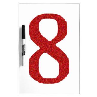 AANTAL 8 IN ROOD WHITEBOARD