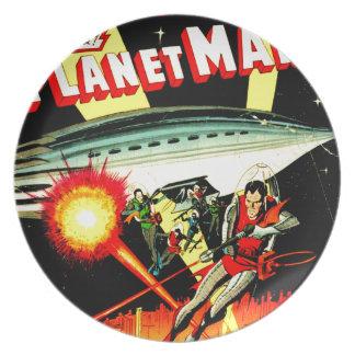 Aanval op Planeet Mars Melamine+bord