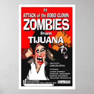Aanval van Bobo Clown Zombies Poster