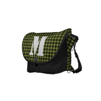 Aanvankelijk:  Het Groene en Zwarte Patroon Messenger Bags