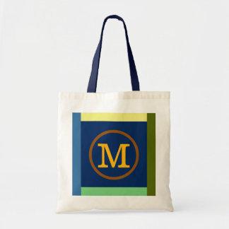 Aanvankelijk M, kleuren & monogram Budget Draagtas