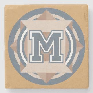 """Aanvankelijk monogram """"M"""" Stenen Onderzetter"""