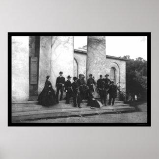 Aanwezigen van de Begrafenis van Robert E. Lee 187 Poster