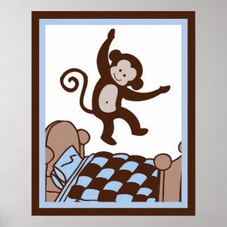 Aap 4 Jumpin op het Poster/de Druk van de Kunst va Poster
