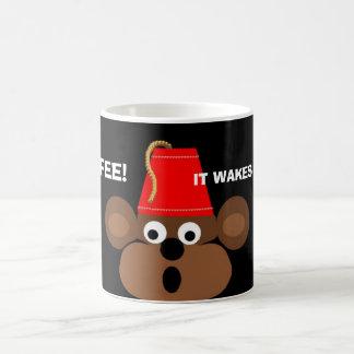 aap gezicht, KOFFIE! , WEKT HET MIJN AAP! Koffiemok