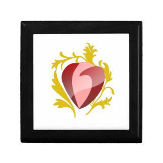 aardbei hart decoratiedoosje