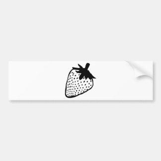 aardbei pictogram bumpersticker
