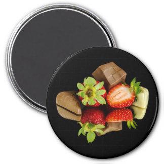 Aardbeien en Chocolade om Magneet