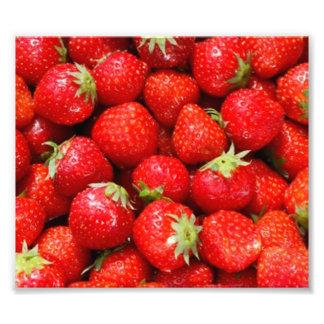 Aardbeien Foto Afdruk
