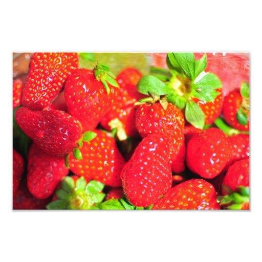 Aardbeien Foto Print