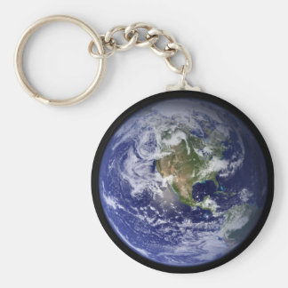 Aarde Basic Ronde Button Sleutelhanger