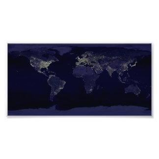 Aarde bij Nacht Foto Kunst