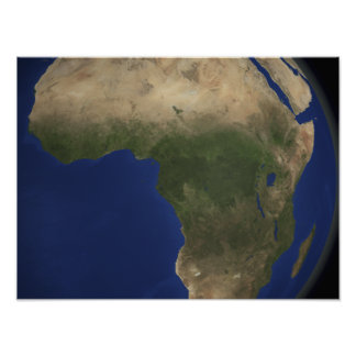 Aarde die landcover over Afrika tonen Poster