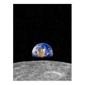 Aarde die over Maan toenemen Briefkaart