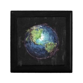 Aarde en Ruimte Vierkant Opbergdoosje Small