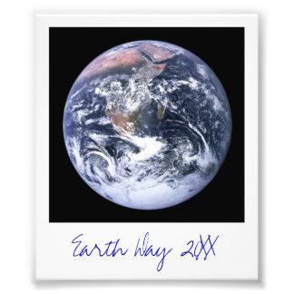 Aarde Foto Afdruk