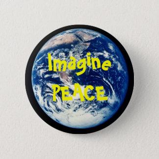 aarde, ImaginePEACE Ronde Button 5,7 Cm