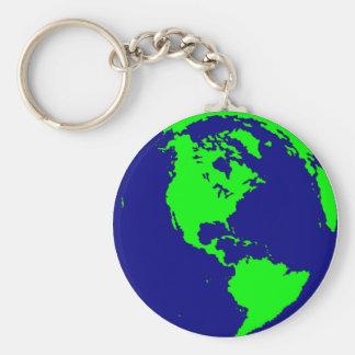 Aarde Keychain Sleutelhanger