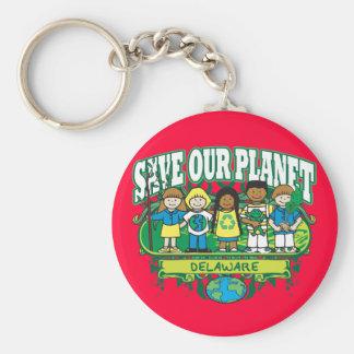 Aarde Kinder Delaware Basic Ronde Button Sleutelhanger