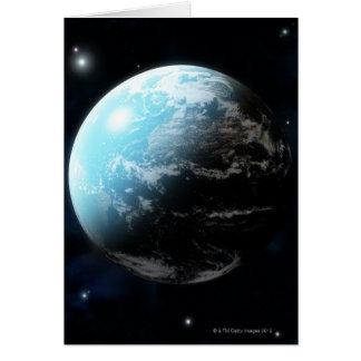 Aarde met rond sterren allen briefkaarten 0