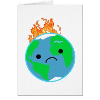 Aarde op Brand Kaart