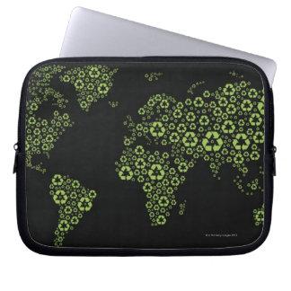 Aarde uit het recycling van symbolen wordt laptop sleeve