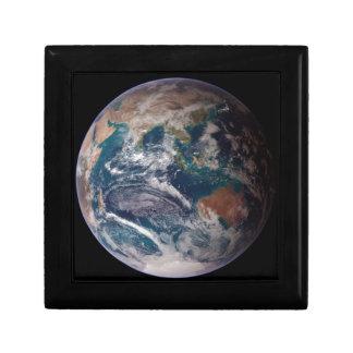 Aarde van Ruimte Vierkant Opbergdoosje Small