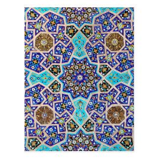 Aardewerk van het Mozaïek van Iznik het Bloemen Briefkaart