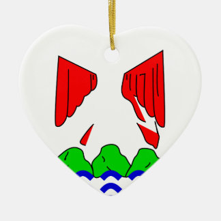 aardig-vlag keramisch hart ornament