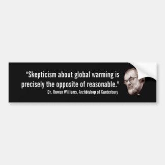 Aartsbisschop van het Globale Verwarmen van Canter Bumpersticker