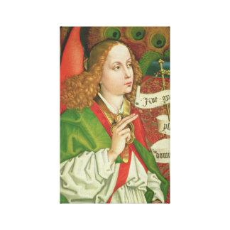 Aartsengel Gabriel Annunciation - Martin Stretched Canvas Afdrukken
