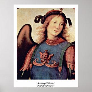 Aartsengel Michael door Pietro Perugino Poster