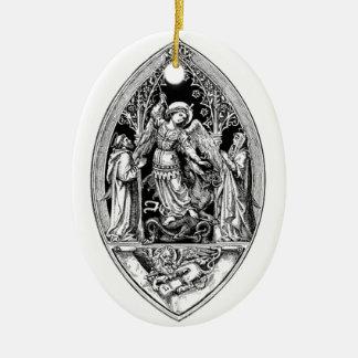 Aartsengel Michael Keramisch Ovaal Ornament