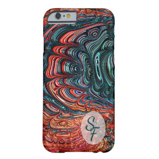 Abalone Fractal van Shell het Abstracte Monogram Barely There iPhone 6 Hoesje