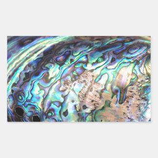 Abalone van Paua blauw en groen schaaldierendetail Rechthoekvormige Sticker