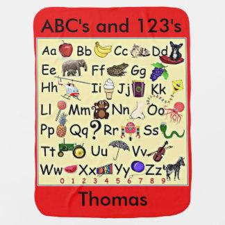 ABC 123 Aantallen die van het Alfabet de Deken van Inbakerdoek