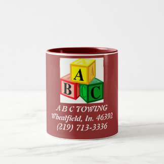 ABC-blokken, B C TOWINGWheatfield, binnen. 46392 Tweekleurige Koffiemok