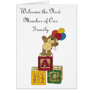 ABC, heet het Nieuwe Lid van Onze Familie welkom Kaart
