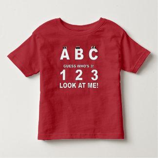 ABC kijkt wie Druk 3 is Kinder Shirts
